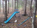 #8: Old slide in woods near confluence