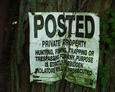 #4: No Tresspassing sign