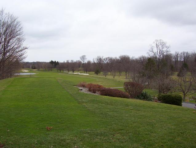 Looking down a fairway on the Cavalry Club golf course