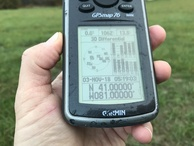 #2: GPS reading at the confluence.