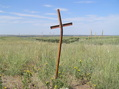 #7: Cross in the ground about 25 meters south-southwest of the confluence.