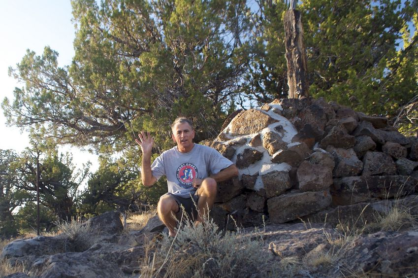 At the Oregon-California-Nevada tripoint, just 0.3 miles from the confluence point