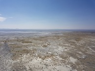 #10: View South (across the dry Alkali Lake) from 120 m above the point