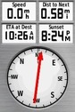 #2: My GPS receiver's display, at my point of closest approach