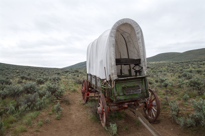 The historic Oregon Trail passes through this general area