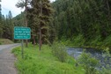 #8: Road sign next to the John Day River, below the point