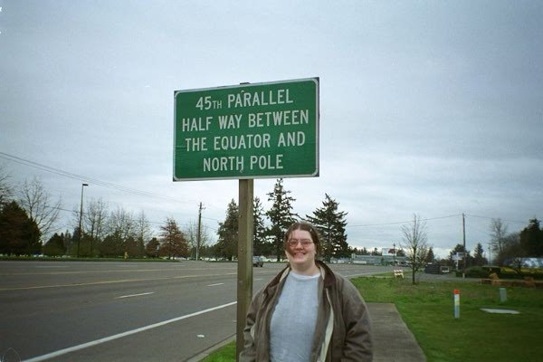 Ada at the 45th parallel; this is not on the confluence