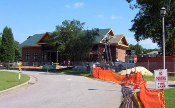 #1: A new dining hall under construction just north of the confluence.
