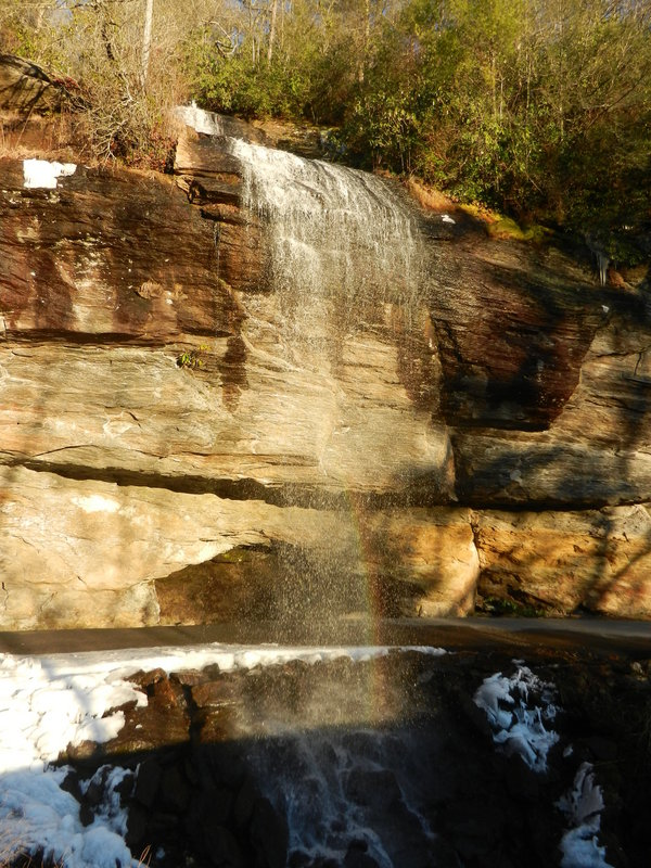 NC's Bridal Veil Falls on the way to 35N 83W (Note rainbow on roadway)