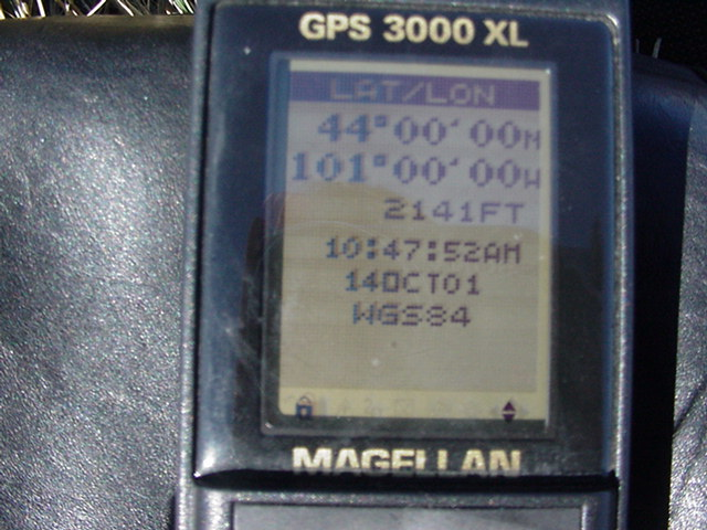 GPS Reading At the Site.