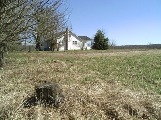 #1: Looking NE at the house with the large field