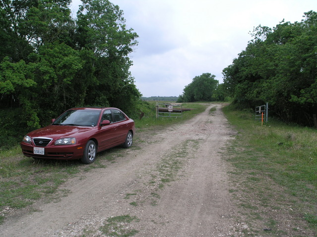 Parking the car at the end of route 6042