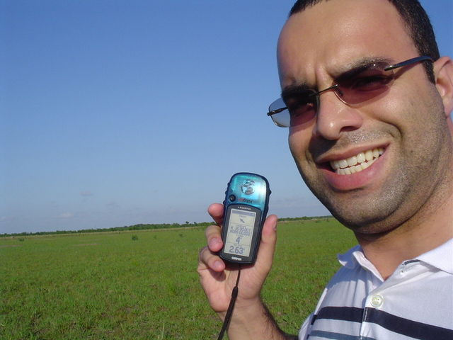 Confluence Hunter Fred Cesarino with the GPS Display Proof