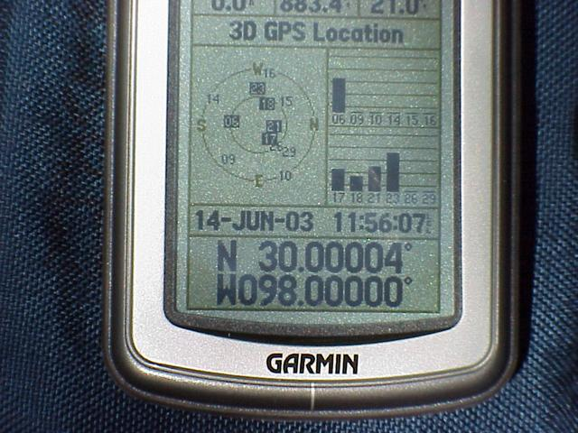 It was difficult to get the GPS unit to zero out in the trees.