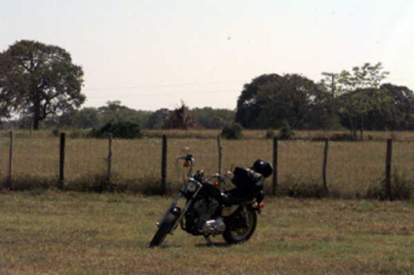View toward the East, with motorcycle/GPS