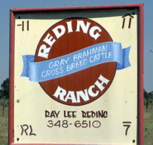 #1: Sign at ranch entry, ca. 150 feet SE of the confluence