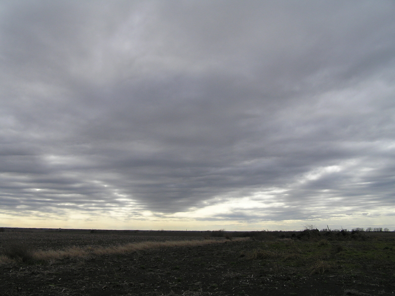 Texas sky and landscape in this view from the confluence to the southwest.