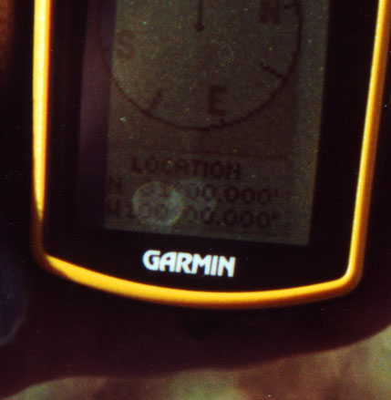 Closeup of GPS
