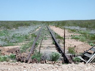 #1: Abandoned railroad that ends at the Texas/New Mexico border