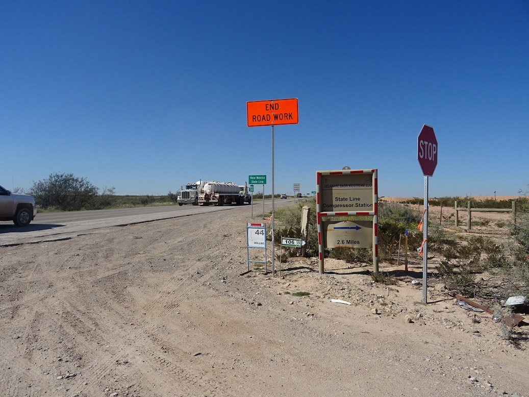 NM - TX State line and heavy traffic