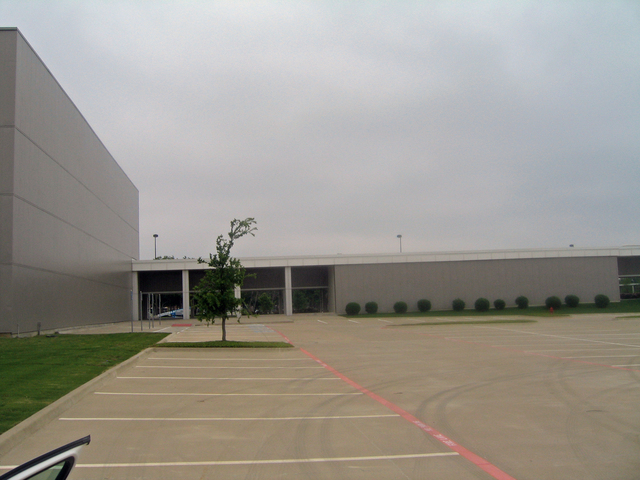 View east from the parking lot
