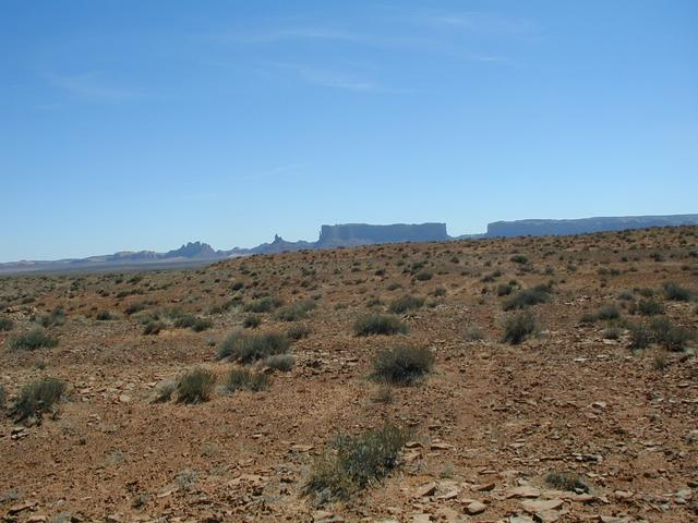 "Confluence ""monument"" with Monument Valley in background (West)"