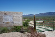 #10: A small cemetery, 1 mile South of the point.  (This is where I started my hike.)