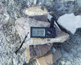 #3: the GPS on the Vogels' rock cairn
