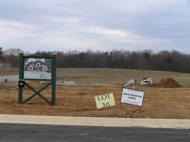 View of Lot 36 to the north.  The confluence will be in the back yard of this lot in the future.