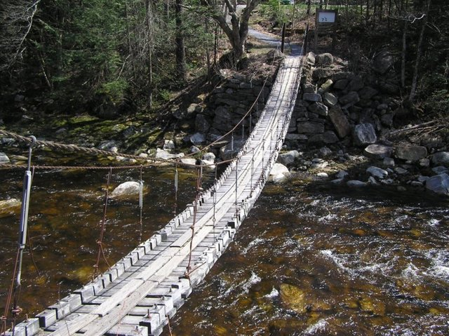 Suspension bridge over Deerfield river