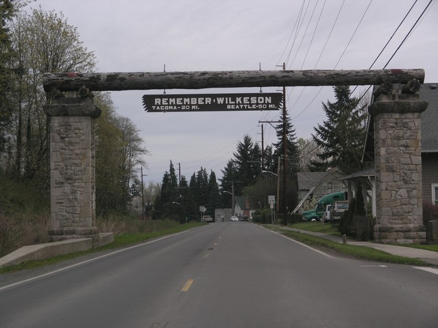 "Passing through Wilkeson (""Speed limit 20 mph"")"