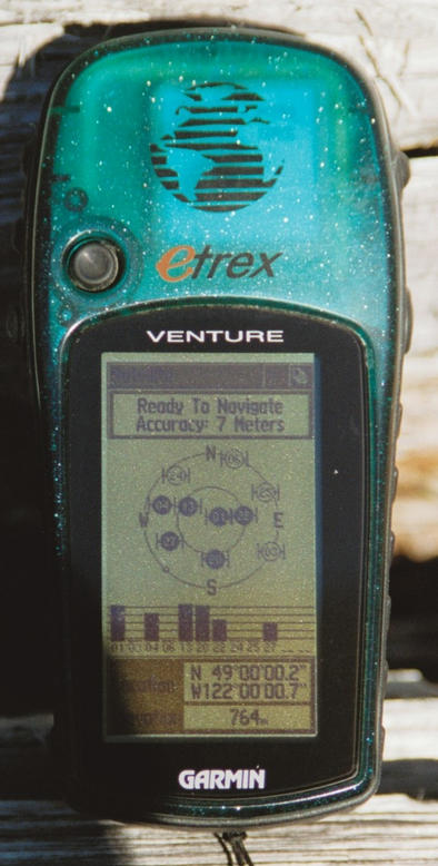 GPS, at location where pictures were taken