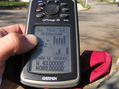 #2: GPS reading at the confluence site.