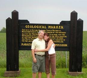 #1: My Wife & I at the confluence--Notice Rainbow