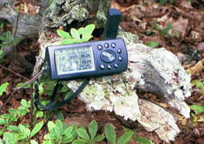#1: My GPS display at the confluence point