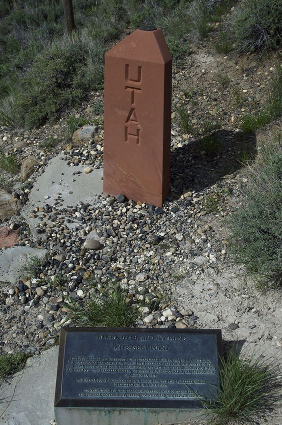 The nearby state tripoint 'Monument' (where Idaho-Utah-Wyoming meet)