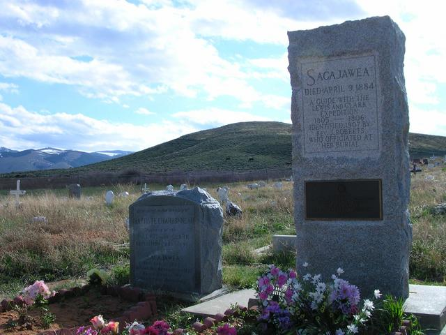 Sacajawea's final home, four miles from the confluence