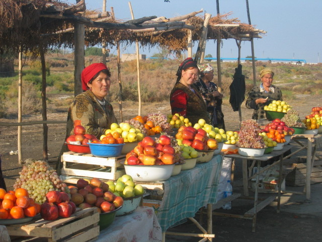 Women selling Fruits on the Roadside