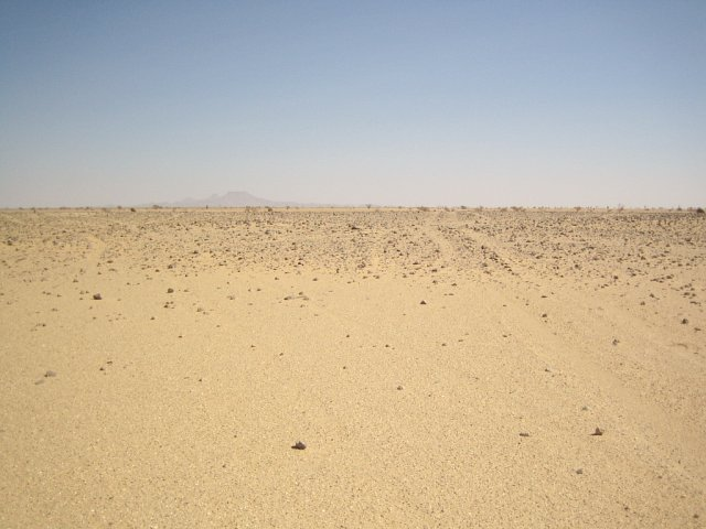 Empty desert facing North