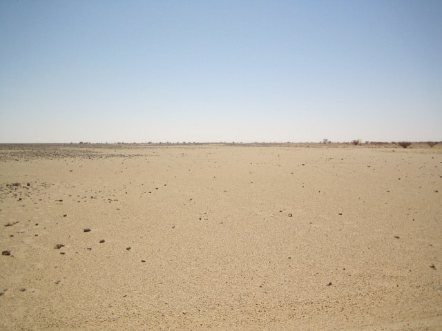 Empty desert facing East