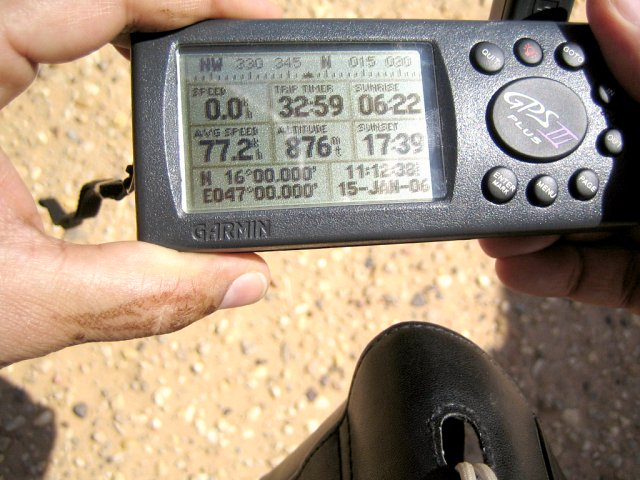 GPS photo confirming confluence point