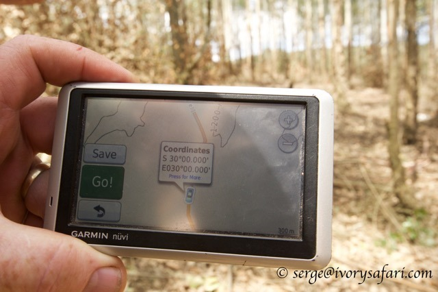 The confluence on a Garmin Nuvi