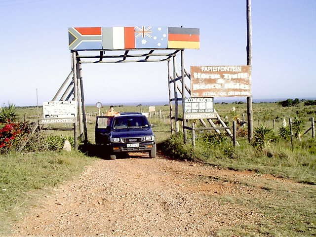The gate to Papiesfontein
