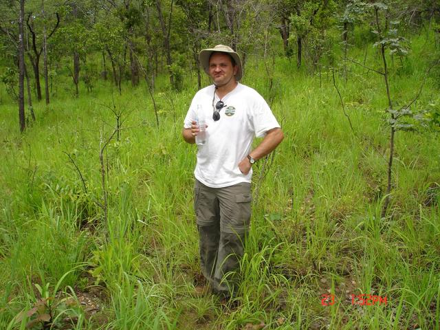 Bruce at the site