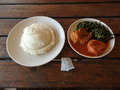 #10: Lunch with Nshima, chicken, and spinach
